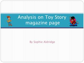 A nalysis on  T oy Story  magazine page