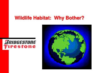 Wildlife Habitat:  Why Bother