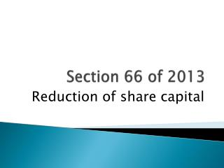 Section 66 of 2013