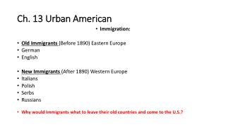 Ch. 13 Urban American