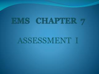 EMS   CHAPTER   7
