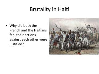Brutality in Haiti