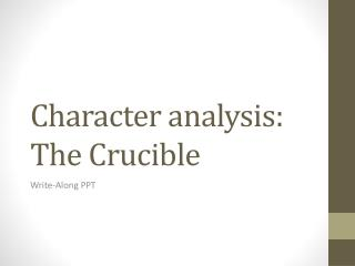 an introduction to the literary analysis of the crucible Academic writing and research literary analysis essay for the crucible domestic violence papers analysing interviews dissertation.