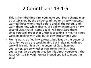 2 Corinthians 13:1-5