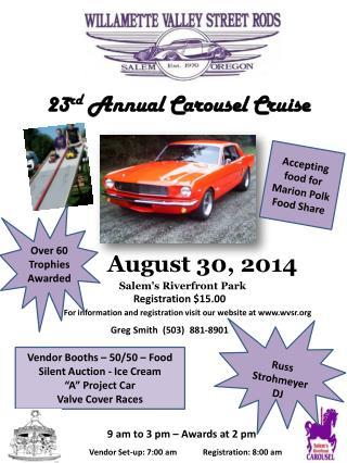 23 rd  Annual Carousel Cruise
