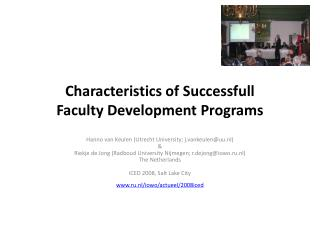 Characteristics of Successfull  Faculty Development Programs