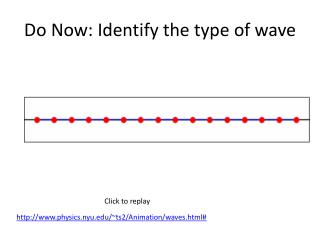 Do Now: Identify the type of wave