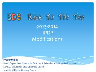 2013-2014  IPDP Modifications