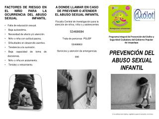 PREVENCI�N DEL ABUSO SEXUAL INFANTIL