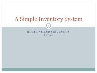 A Simple Inventory System