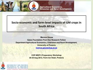 Socio-economic and farm-level impacts of GM crops in South Africa
