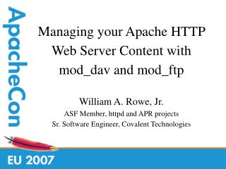 Managing your Apache HTTP Web Server Content with mod_dav and mod_ftp