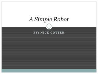 A Simple Robot
