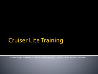 Cruiser  Lite  Training