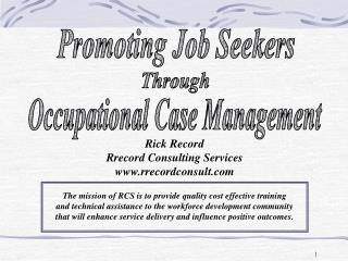 Promoting Job Seekers