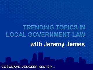 w ith Jeremy James