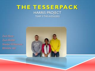 The  Tesserpack Harris Project Team 3: The Avengers