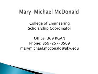 Mary-Michael McDonald