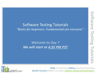 ITeLearn Manual Testing Day 07