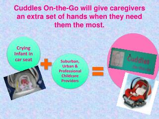 Cuddles On-the-Go will give caregivers an extra set of hands when they need them the most.