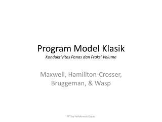 Program Model Klasik Konduktivitas Panas dan Fraksi Volume