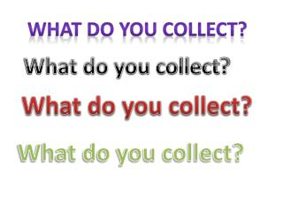 What do you collect ?