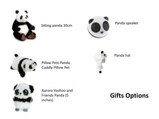 Sitting panda 30cm