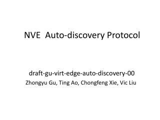 NVE  Auto-discovery Protocol