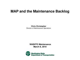 MAP and the Maintenance Backlog
