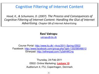 Cognitive Filtering of Internet Content