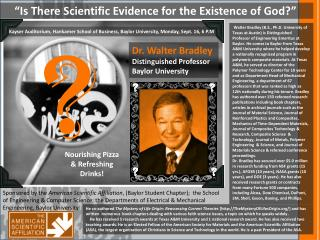 """Is There Scientific Evidence for the Existence of God?"""