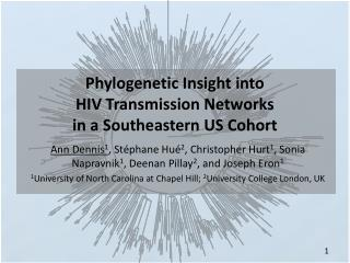 Phylogenetic Insight into  HIV Transmission Networks  in a Southeastern US Cohort