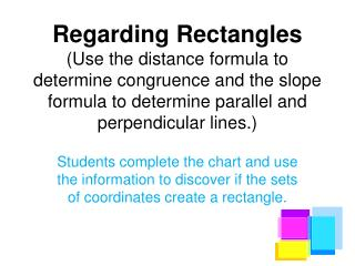 Regarding Rectangles