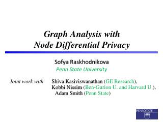 Graph Analysis with  Node Differential  Privacy