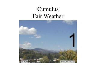 Cumulus Fair Weather