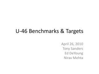 U-46 Benchmarks  Targets