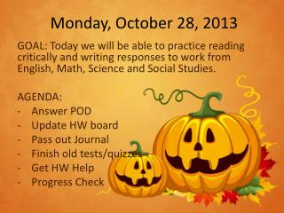 Monday, October 28, 2013