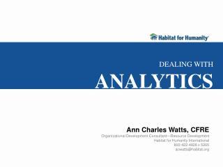 Ann Charles Watts, CFRE Organizational Development Consultant—Resource Development