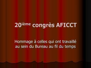 20i me congr s AFICCT