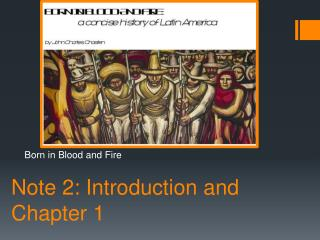 Note 2: Introduction and Chapter 1