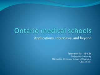 Ontario medical schools