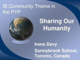 IB Community Theme in the PYP