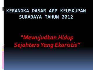 KERANGKA DASAR APP KEUSKUPAN SURABAYA TAHUN 2012