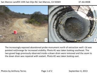 San Marcos Landfill 1595 San  Elijo  Rd. San Marcos, CA 92069 37-AA-0008