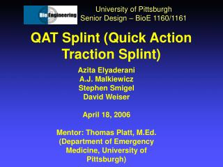 QAT Splint Quick Action Traction Splint