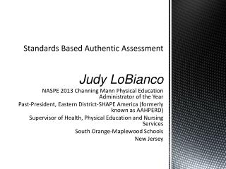 Standards Based Authentic Assessment
