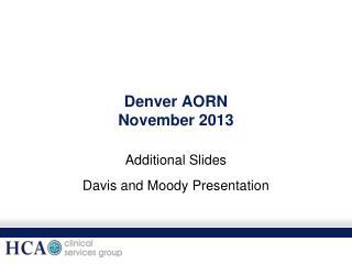 Denver AORN November 2013