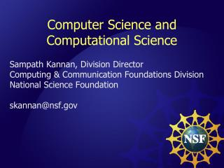 Computer Science and Computational Science