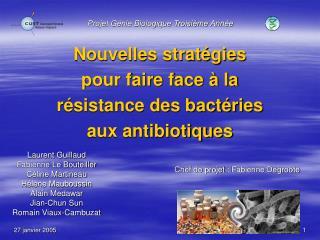 Nouvelles strat gies  pour faire face   la r sistance des bact ries  aux antibiotiques