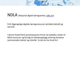 NDLA  (Nasjonal digital læringsarena,  ndla.no )